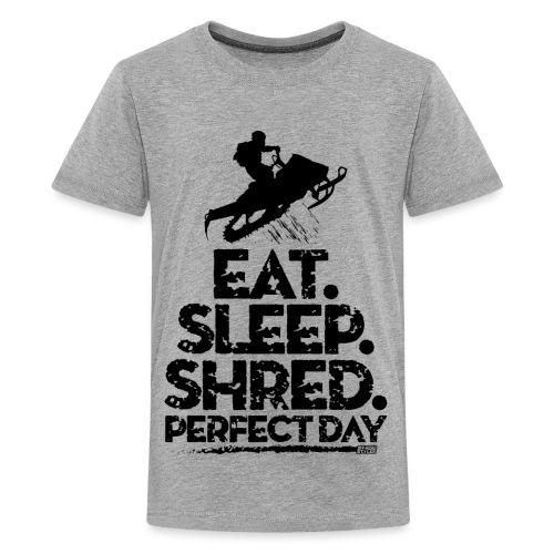 Snowmobile Eat Sleep - Kids' Premium T-Shirt