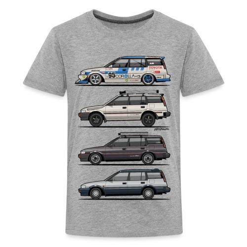 Stack of Toyota Corolla E90 - Kids' Premium T-Shirt