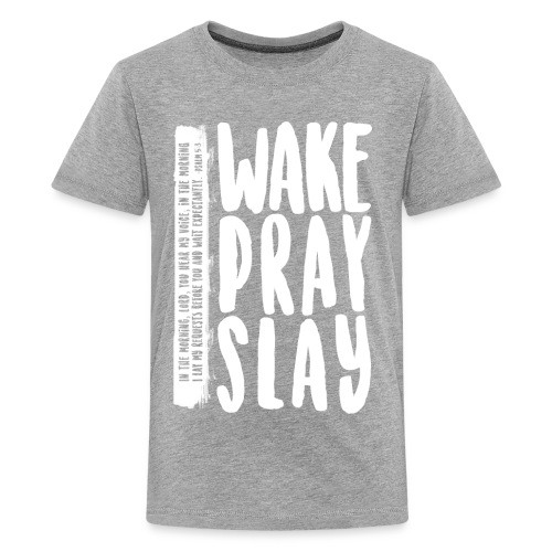 Wake Pray Slay Scripture Tee - Kids' Premium T-Shirt