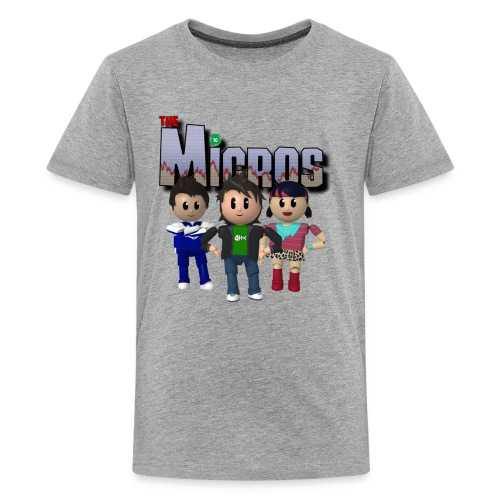 Logo with Characters - Kids' Premium T-Shirt