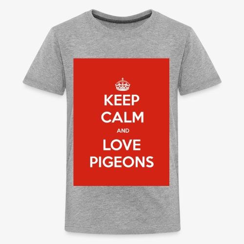 KEEP CALM AND LOVE PIGEONS - Kids' Premium T-Shirt