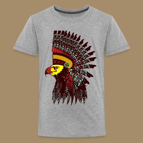 Tribal Eagle Totem with Headdress - Kids' Premium T-Shirt
