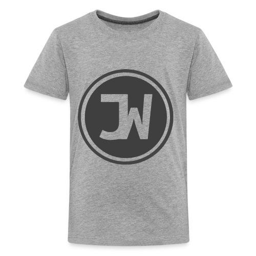 Grey Johannes With Logo - Kids' Premium T-Shirt