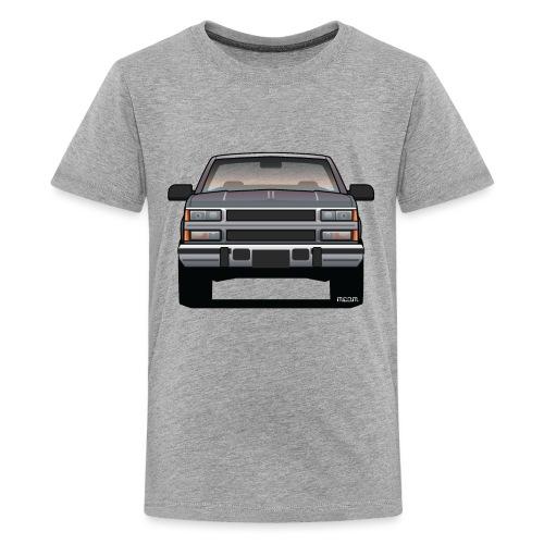 Design Icon: American Bowtie Silver Urban Truck - Kids' Premium T-Shirt