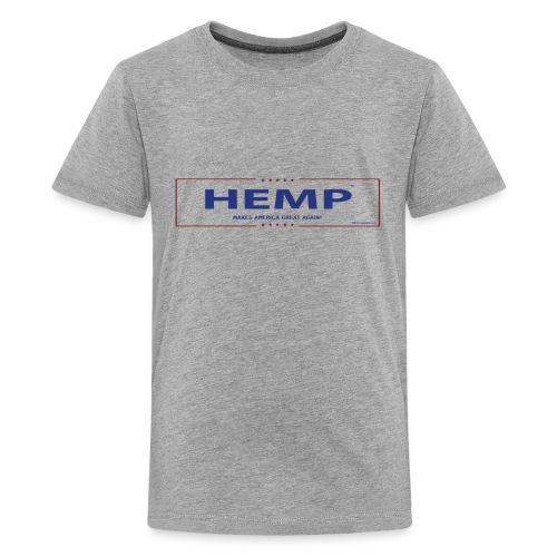 Hemp Makes America Great Again on White - Kids' Premium T-Shirt