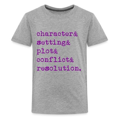 5 Elements of a Story - Kids' Premium T-Shirt