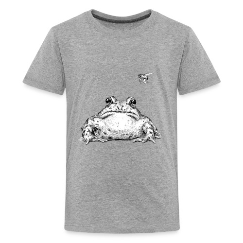Frog with Fly by Imoya Design - Kids' Premium T-Shirt