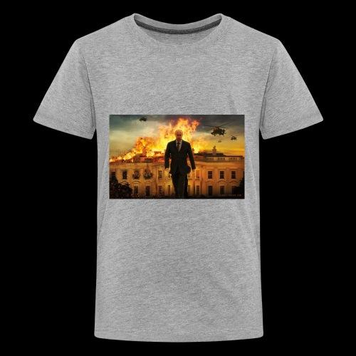 putin destroys white house - Kids' Premium T-Shirt