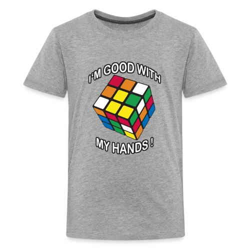Rubik's Cube Good With My Hands - Kids' Premium T-Shirt