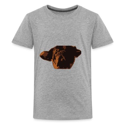 French Mastiff Hooch Headshot - Kids' Premium T-Shirt