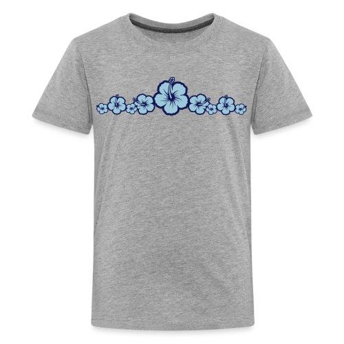 Hawaiian Hibiscus Flowers - Surfing Style - Kids' Premium T-Shirt