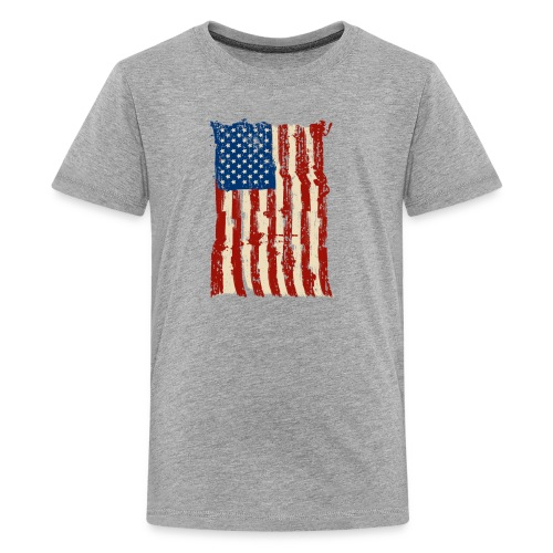 4th of July Independence Celebration American Flag - Kids' Premium T-Shirt