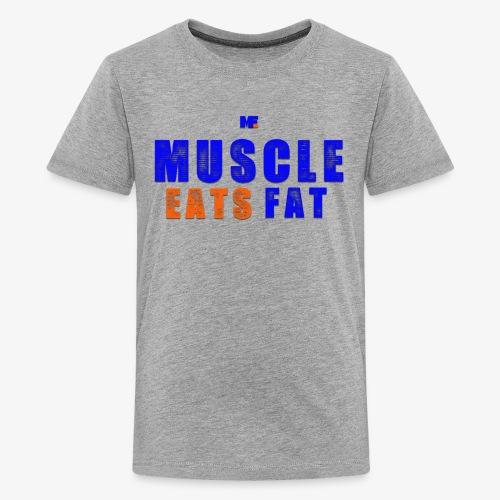 Muscle Eats Fat (NYK Edition) - Kids' Premium T-Shirt