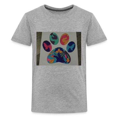 The rainbow pawprint - Kids' Premium T-Shirt