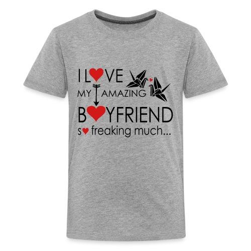 love my amazing bf freaking much - Kids' Premium T-Shirt