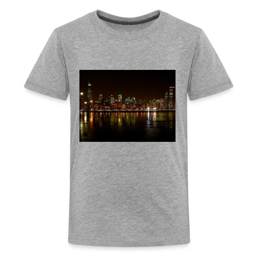 chicago skyline - Kids' Premium T-Shirt