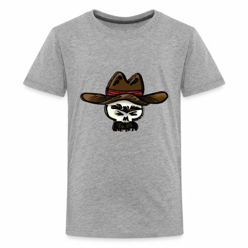 Ranchero Skull (Color) - Kids' Premium T-Shirt