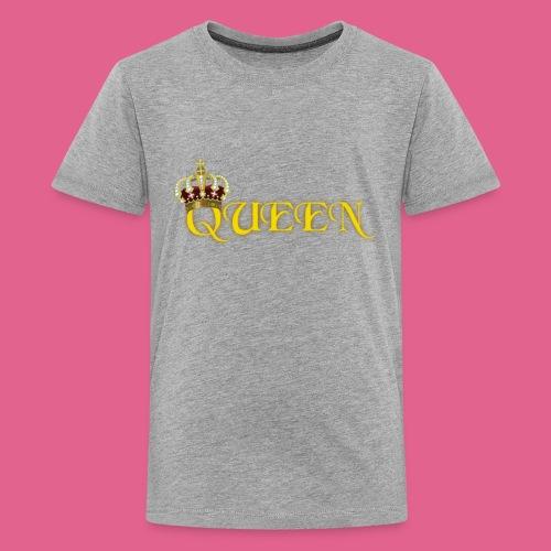 GOLD QUEEN CROWN GEMS AND DIAMONDS - Kids' Premium T-Shirt