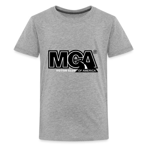 MCA Logo WBG Transparent BLACK TITLEfw fw png - Kids' Premium T-Shirt