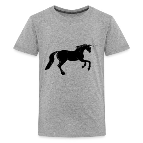 unicorn black - Kids' Premium T-Shirt