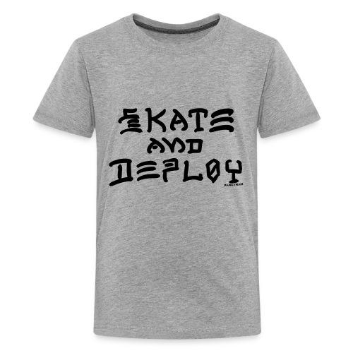 Skate and Deploy - Kids' Premium T-Shirt