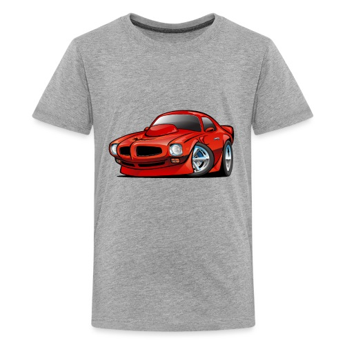 Classic Seventies American Muscle Car Cartoon - Kids' Premium T-Shirt
