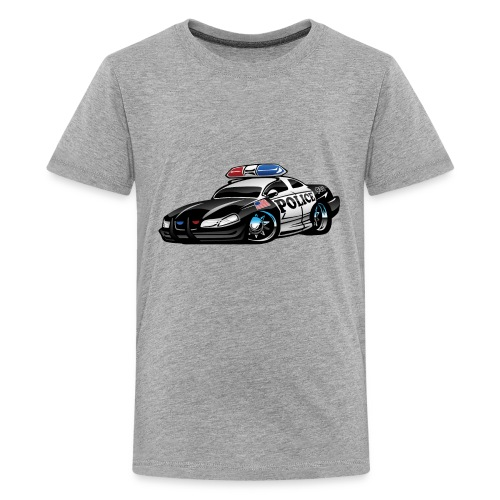 Police Muscle Car Cartoon - Kids' Premium T-Shirt