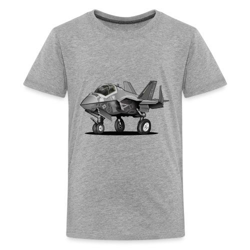 F-35C Lightning II Joint Strike Fighter Il Cartoon - Kids' Premium T-Shirt