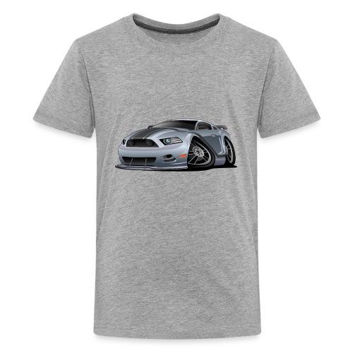 Modern American Muscle Car Cartoon Vector - Kids' Premium T-Shirt