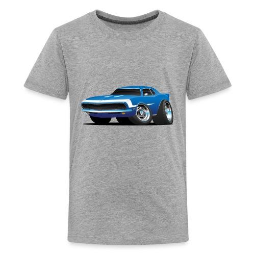 Classic Sixties Muscle Car Hot Rod Cartoon - Kids' Premium T-Shirt