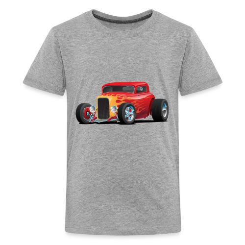 Classic Bold Red Custom Street Rod - Kids' Premium T-Shirt