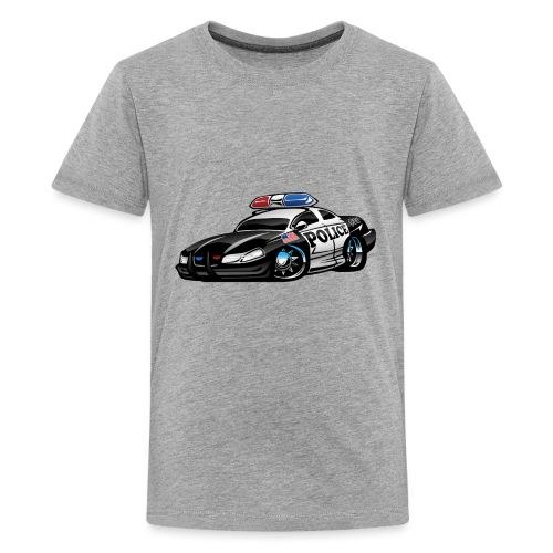 Police Muscle Car Cartoon - Kids' Premium T-Shirt