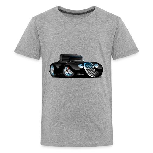 Black Hot Rod Classic Coupe Custom Car Cartoon - Kids' Premium T-Shirt