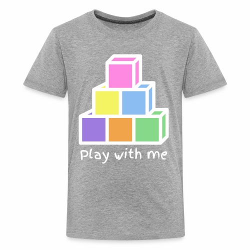Play With Me (version white) - Kids' Premium T-Shirt