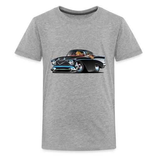Classic hot rod fifties muscle car - Kids' Premium T-Shirt