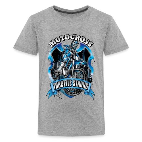 Motocross Throttle Strong - Kids' Premium T-Shirt