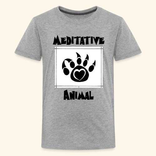 Paw Logo with Text and transparency - Kids' Premium T-Shirt