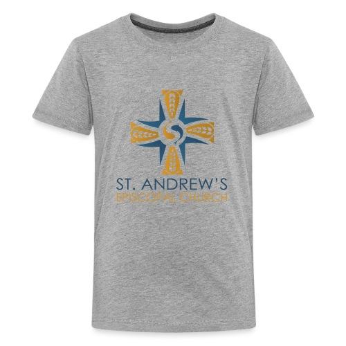 St. Andrew's logo on transparent background - Kids' Premium T-Shirt
