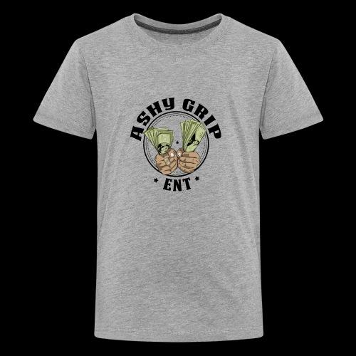Ashy Grip Logo 2 - Kids' Premium T-Shirt