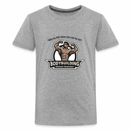 Ultimate Dominator Fitness Logo - Kids' Premium T-Shirt