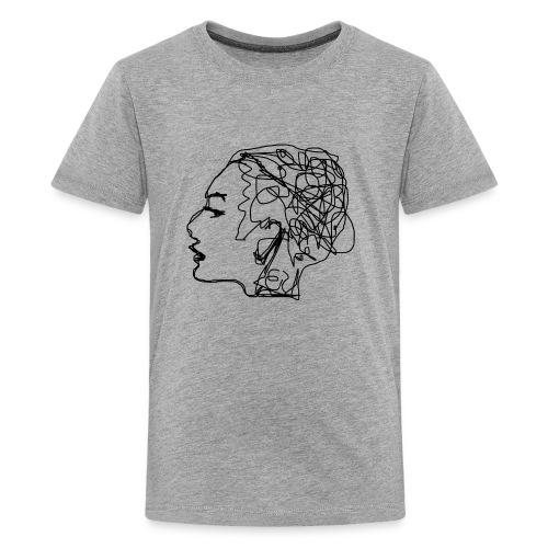 Drawing a girl from a profile - Kids' Premium T-Shirt