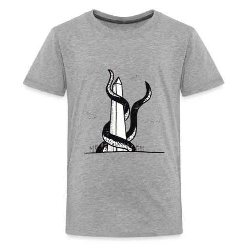 Tentacles on the Washington Monument - Kids' Premium T-Shirt