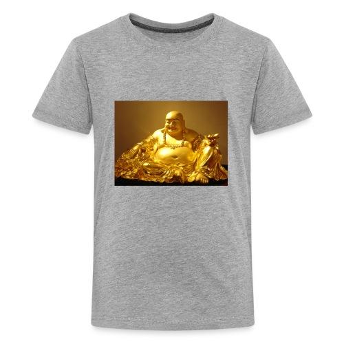 Laughing Buddha Gold Statue - Kids' Premium T-Shirt