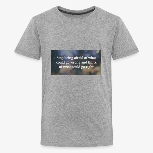 30 Motivational Quotes To Overcome The Challenges - Kids' Premium T-Shirt