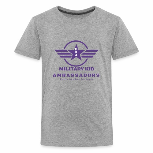 Military Kid Ambassador Purple Logo - Kids' Premium T-Shirt