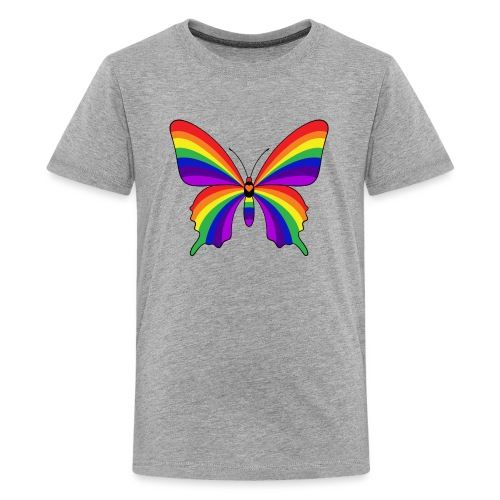 Rainbow Butterfly - Kids' Premium T-Shirt