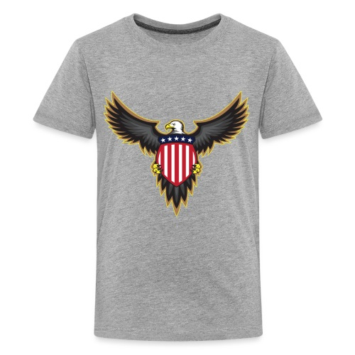 Patriotic American Bald Eagle - Kids' Premium T-Shirt