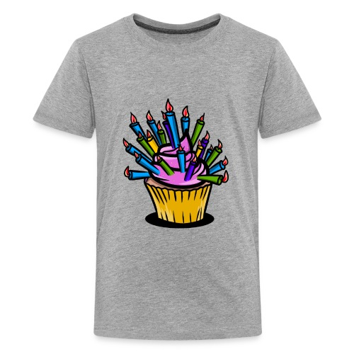 Funny birthday cupcake - Kids' Premium T-Shirt