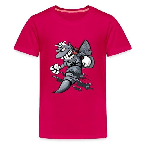 F/A-18 Hornet Fighter Attack Military Jet Cartoon - Kids' Premium T-Shirt