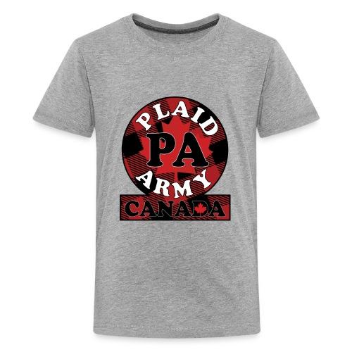 Plaid Army Canada - Kids' Premium T-Shirt